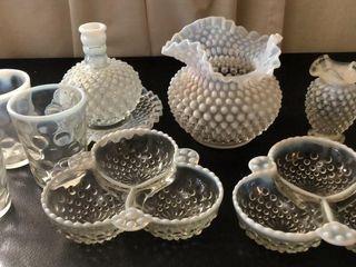 10  Hobnail Glassware