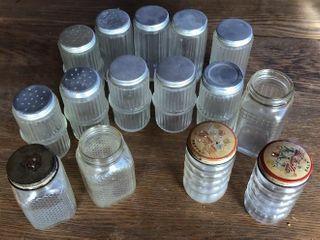 15  Vintage Spice Jars