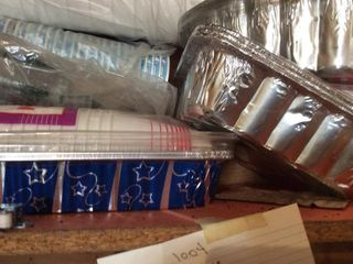 Baking Tins Food Storage Cups lids Plates   More