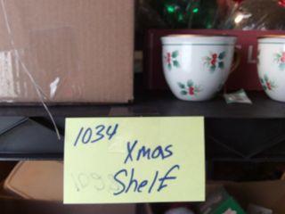 Christmas Shelf Decc Items W Candles