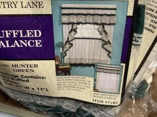 New Ruffled Kitchen Curtains In Packages