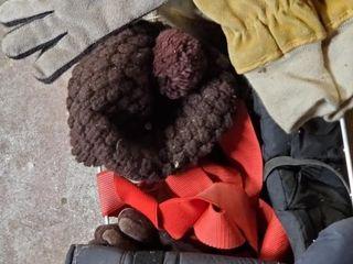 Basket Full OF Mens Hats   Gloves