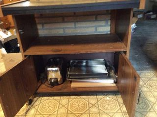 MIcrowave Stand and Toaster