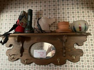Hall Wooden Coat Rack and its contents