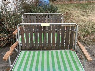 Green Folding Benches