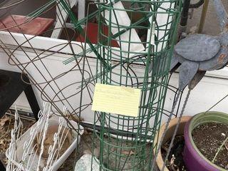 Planters Pots Wire Cage River Rock