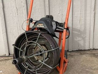 COMMERCIAl General Mini Roto   Sewer Snake Machine   Super Heavy Duty   3 4  75    Works
