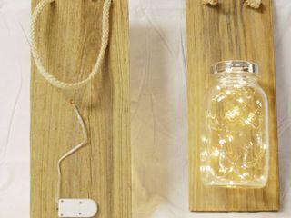 1 Pair  Quart  Mason Jar Sconce  lighted    14 inch