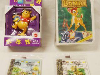 Pooh Collectible   66611 97 Mattel  Walt Disney Bambi   McDonalds Happy Meal 1996   2 little Garden Books  All In Original Packing