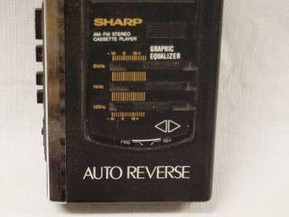 Vintage Sharp AM FM Stereo   Cassette Player  JC 518H BK