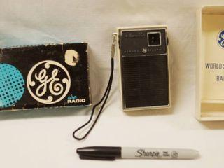 Vintage GE AM Radio  P1757  w  Original Box