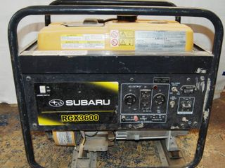 Gas Powered Generator  Subaru RGX 3600  See Photos for Pics and Specifications