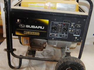 Gas Powered Generator  Subaru RGX 4800  See Photos for Pics and Specifications