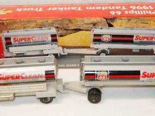 Phillip 66  1996 Tandom Tanker Truck w  Original Box