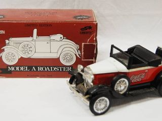 limited Edition Model A Roadster  lockable Coin Bank  Die Cast Metal