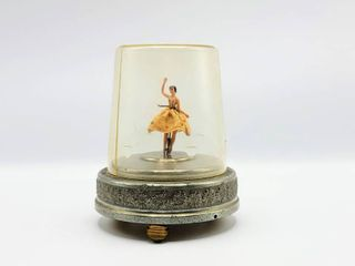 Vintage Cody Musical Creations 5th Ave NY Domed Dancing Ballerina Music Box   Play Blue Danube