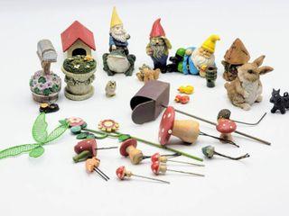 27 piece Miniature Garden Gnome Figurines and Accessories   Fairy Garden Items