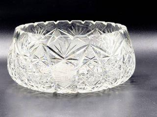 Beautiful Cut Crystal Bowl Star Pattern 7 d x 3 75 t