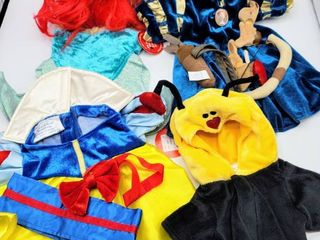 4  Build A Bear Costumes Clothes   Brave  Ariel  Snow White and love Bee