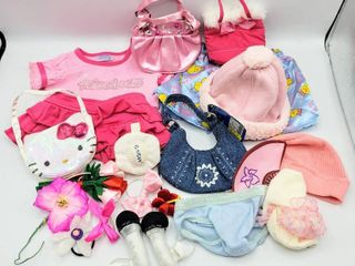 large lot of Build A Bear Clothing  Accessories  Hats   4  Purses  Underwear and Socks