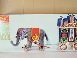 Steiff Golden Age of the Circus Elephant and Wagon in Original Box limited Edition with COA   Retired