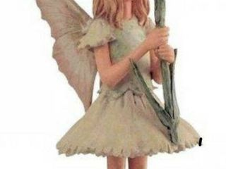 Retired Cicely Mary Barker Flower Fairies Ornament Figurine 86987 Pink Fairy  girl    New in Box plus 4 Ornament display hangers