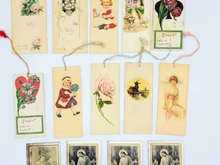 lot of 10 Vintage Bridge Tally Cards 1920s   1940s    4  Funeral Prayer Cards from the 1930s