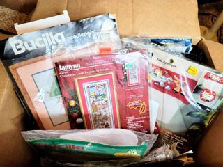 Box Full of Needlepoint  Cross Stitch and more   Brands Bucilla  Janlynn