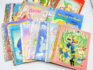 18  Vintage Golden Books Copyright Dates 1948   1990s   Disney  Sesame Street  Barbie and Other Classics