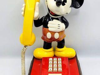 Vintage ATC 1976 The Mickey Mouse Phone landline Push Button Telephone Walt Disney