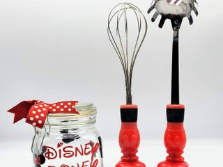 Minnie Mouse Disney Money Jar and Two Mickey Mouse Kitchen Utensils