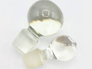 Two Crystal Bottle Decanter Stoppers
