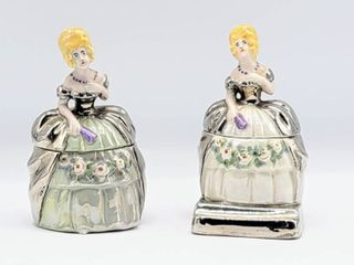 Pair of Figurines Inkwell   signed T  Slough
