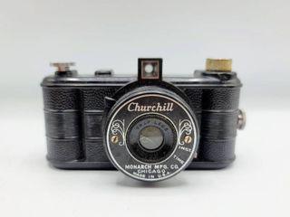 Vintage Churchill Monarch Mfg Co  Camera with Graf lens in original box