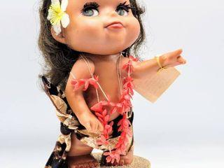 Hawaiian Doll Revolving Music Box   Plays Pearly Shells