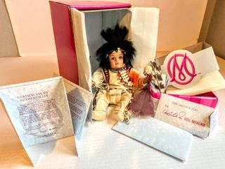 Marie Osmond Fine Collectible Dolls  Mato Tiny Tot  with Certificate of Authenticity and a Doll Necklace for You