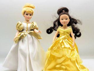 Madame Alexander Disney Princess Dolls   Cinderella and Belle