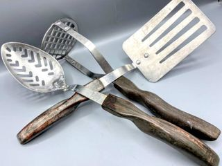 Vintage CUTCO NO  13 14  and 16 Stainless Cooking Cutlery