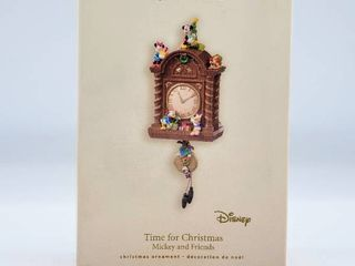 Hallmark Keepsake Disney Ornament Time For Christmas Mickey and Friends with Magic Features Motion  Handcrafted Dated 2007
