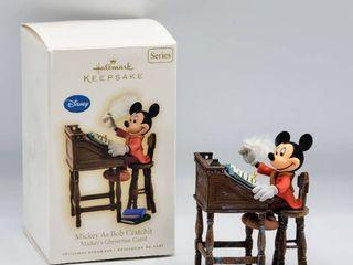 Disney Hallmark Keepsake Ornament Mickey as Bob Cratchit Mickey s Christmas Carol Handcrafted and Dated 2009