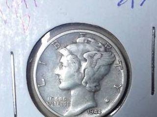 1944 D Mercury Dime