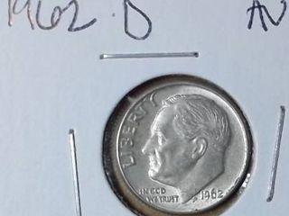 1962 D Roosevelt Dime