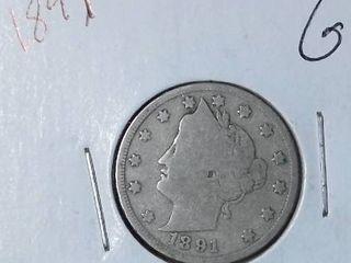 1891 liberty Nickel