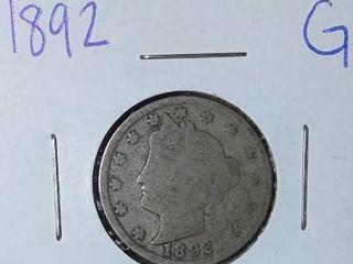 1892 liberty Nickel