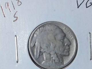 1918 S Buffalo Nickel