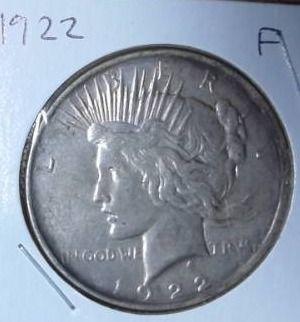 1922 Silver Peace Dollar