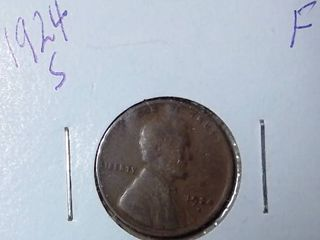 1924 S Wheat Penny