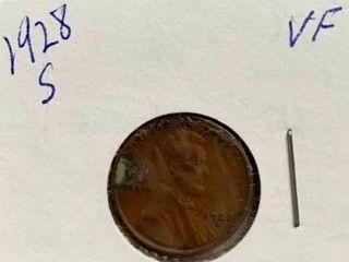 1928 S Wheat Penny