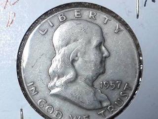 1957 D Franklin Half Dollar