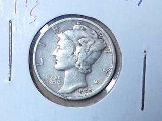 1942 S Mercury Dime